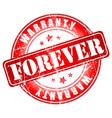 forever warranty stamp vector image