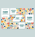 fruit banner summer fruits organic food menu and vector image