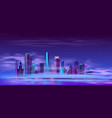 future city on artificial island cartoon vector image vector image