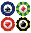gambling chips vector image