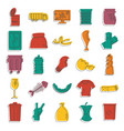 garbage icons set doodle style vector image