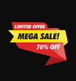 geometric offer mega sale banner vector image vector image