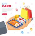 gift card customer loyalty programs banner vector image