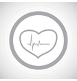 Grey cardiology sign icon vector image vector image
