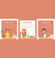 handicraft banners with people making origami set vector image