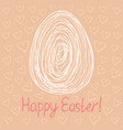 happy easter egg sketch on pink background vector image vector image