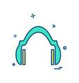 head phone icon design vector image