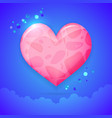 heart with clouds valentines day concept vector image vector image