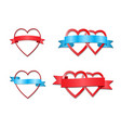 hearts tied by ribbon vector image vector image