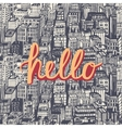 Hello quote hand lettering vector image