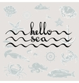 Hello Sea Calligraphy black text vector image vector image