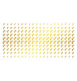 heterosexual symbol gold halftone matrix vector image vector image