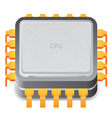 Icon for microprocessor vector image vector image