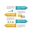 Infographic template on white vector image vector image