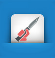 knife icon vector image