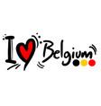 love belgium vector image vector image
