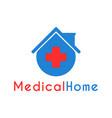medical home clinic logo design template vector image vector image