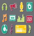 muzicke ikonice4 vector image vector image