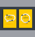 quotes poster templates design set with speech vector image