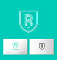 r letter monogram web business card vector image vector image