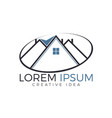 real estate logo design creative house symbol vector image vector image