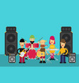 rock band flat vector image vector image