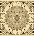 Seamless texture with floral mandala