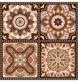 Set of brown romantic patterns vector image vector image