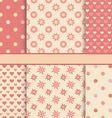 set seamless romantic patterns tiling - pink vector image