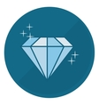 shiny diamond emblem icon image vector image