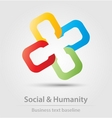 Social and humanity business icon vector image vector image