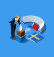 sweden election swedish vote infographic vector image