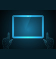 technology future point touch hand tablet vector image vector image