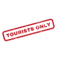 Tourists Only Rubber Stamp vector image vector image