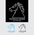 Triangle horse vector image vector image