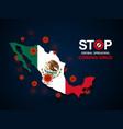 virus around mexico vector image
