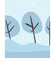 winter frosty landscape forest trees covered with vector image vector image