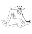 woman skirt drawing on white background vector image vector image