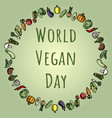 world vegan day suitable for vector image