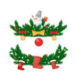 year holidays decorations isolated vector image