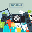 shopping mall banner in flat design vector image