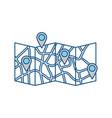 urban city map vector image