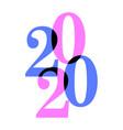 2020 feld vector image vector image
