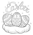 a coloring bookpage for children and adults vector image