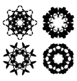 Abstract Black Ornaments vector image