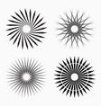 abstract circular geometric shapes vector image