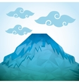 abstract mountain icon vector image
