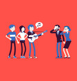 annoying music conflict vector image