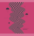 background with optical illusion pattern 3d vector image vector image