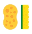 Bath sponge kitchen sponges flat icon vector image